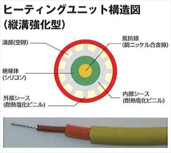 ヒーティングユニット構造図(縦溝強化型)