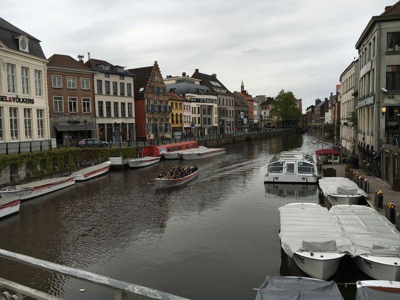 ベルギーケント都市の風景