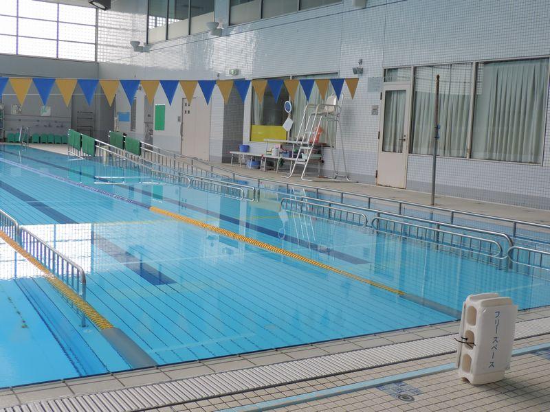 大阪市生野区温水プール 採暖室